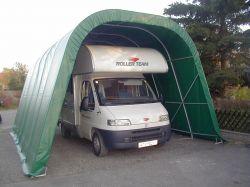 Genügend Platz für Wohnwagen und Wohnmobile
