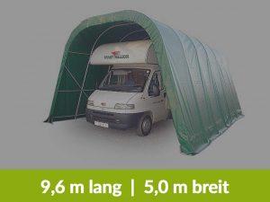 Garagenzelt 9,6 Meter lang, 5 Meter breit, 3,6 Meter hoch für Wohnmobile und Wohnwagen