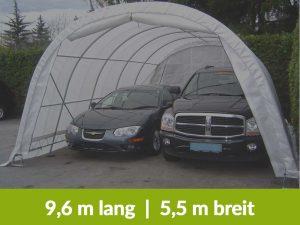 Garagenzelt 9,6 Meter lang und 5,5 Meter Breit für 2 große PKWs
