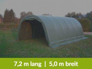 Weidezelt 7,20 Meter lang und 5 Meter breit